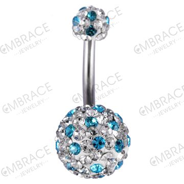 jeweled belly navel ring piercing Tattoo fashion jewelry surgical steel.