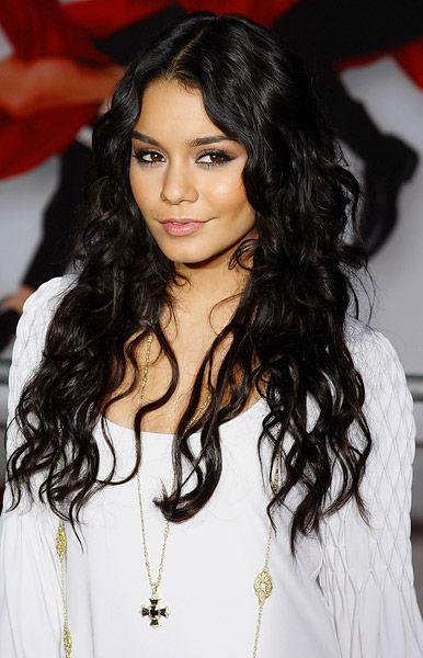 : Black Hairstyles, Curly Hairstyles, Vanessa Hudgens, Dark Hair, Long Curls, Wavy Hair, Long Hair, Girls Hairstyles, Hair Style