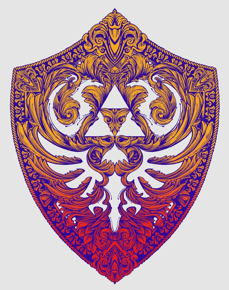 The Hylian Shield from the Legend of Zelda by Vincent Carrozza