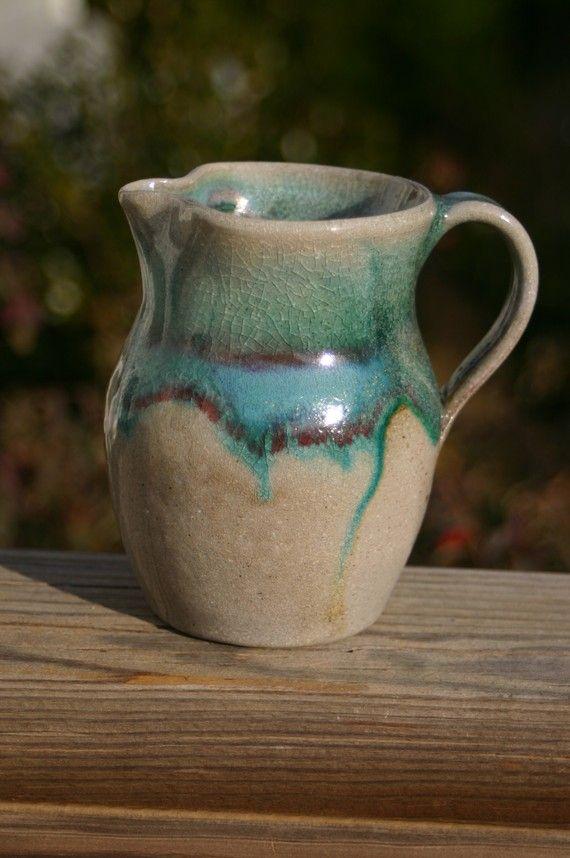 Salt Glazed Pottery Pitcher Seagrove, NC