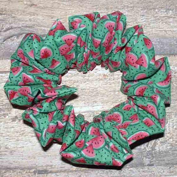 Kleine Wassermelone Scheiben Haar Scrunchie von Handmadecrafter