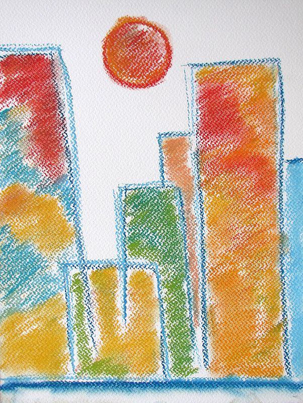 Tokyo #art #pastels #drawing #city #japan #tokyo #travel #abstract