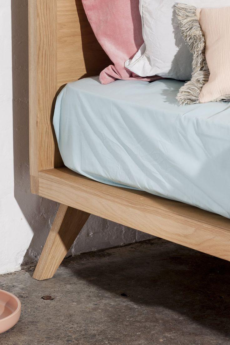 american Oak timber bed frame Geelong