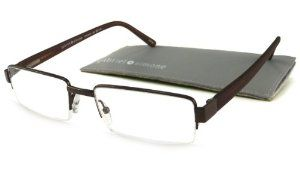 Gabriel + Simone Reading Glasses - Concorde Brown / 2.50-CONCORDEBRN250 by Gabriel + Simone. Save 50 Off!. $24.99. Frame: Metal. Model: Concorde. Lens: Aspheric Polycarbonate. Style: Semi-Rimless Rectangular. Temples: Soft-Touch Plastic. Gabriel + Simone Concorde are a stylish and distinctive, semi-rimless metal reader made with Soft-Touch Plastic temple tips and spring hinges, ensuring superb comfort & fit. The Aspheric Polycarbonate lenses are scratch-impact resistant and...