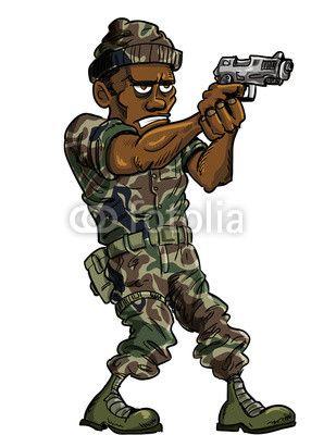 28 best images about Cartoon soldier on Pinterest ... Soldier With Gun Cartoon