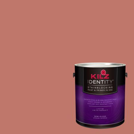 Kilz Identity Interior/Exterior Stainblocking Paint & Primer in One #LB110-01 Brickwork, 1 gallon, Red