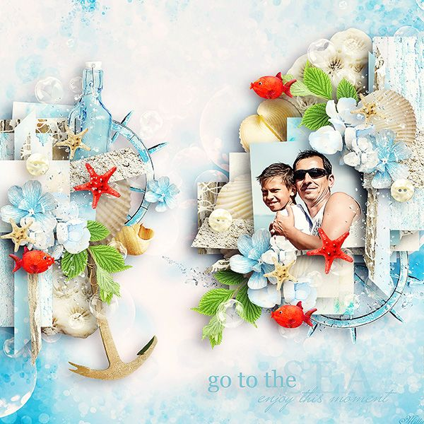 Go To The Sea by Eudora Designs template Little dreamer by Tinci Designs