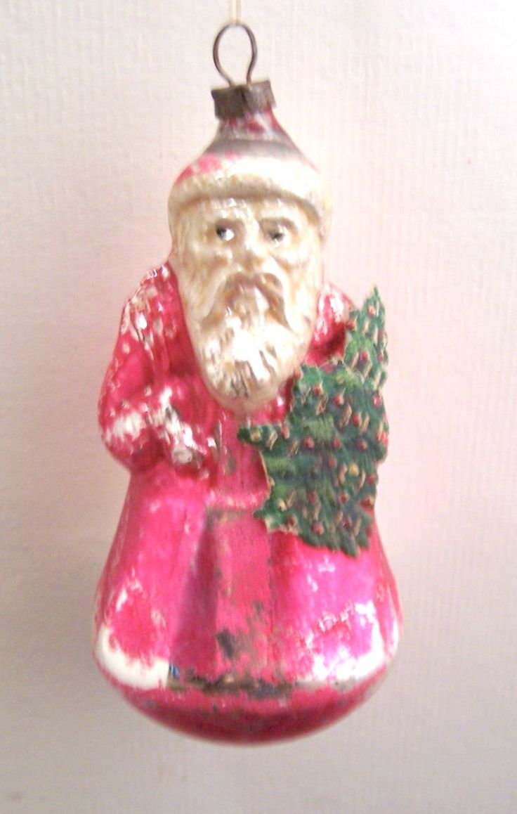 Victorian christmas ornaments - Details Zu Vintage Victorian German Christmas Hand Blown Belsnickel Santa Ornament