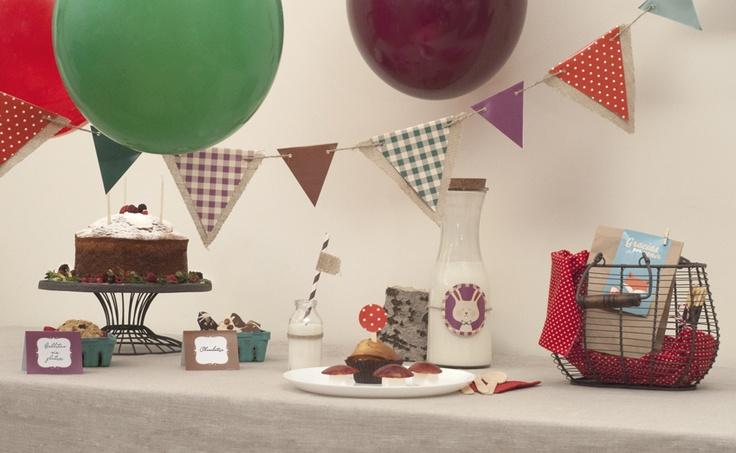 Fiesta de cumpleaños infantil de temática Bosque   Ribbon days
