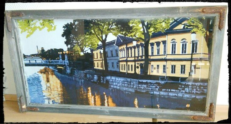 Vanhasta ikkunasta maisematauluksi, Aurajoki