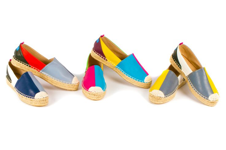 3 pairs of multi coloured espadrilles by Alice X Global