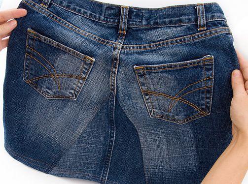 DIY Jeansrock selber machen