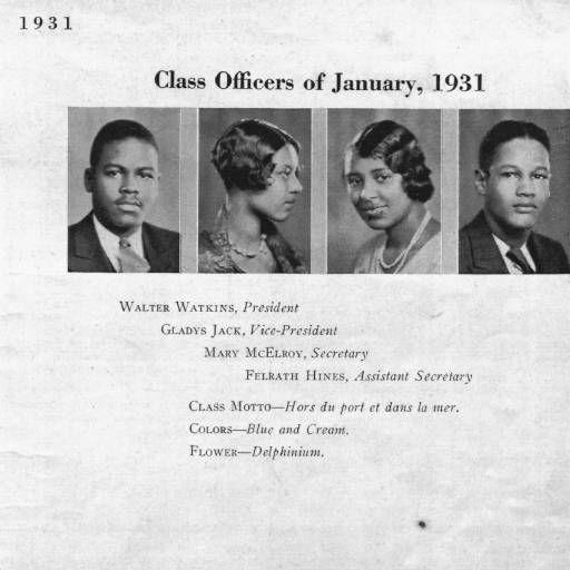 The Attucks: Crispus Attucks High School Yearbook, 1931 :: Crispus Attucks Museum