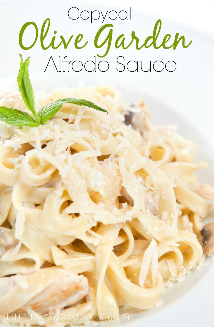 Copycat Olive Garden Alfredo Sauce Recipe Diy Projects Pinterest Gardens Copy Cat