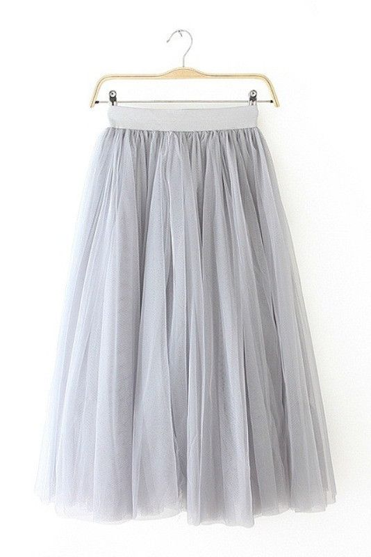 """Size + Fit: - This item is Final Sale - Multi layered tulle - US Size: S/M - 2/4 - EUR Size: S/M - 34/36 - Length: 31.9"""" / 81cm - Model is wearing size small - Measurements taken from size small Conte"""