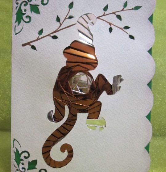 обезьяна из бумаги мастер-класс
