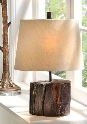 It's only natural to light up your entryway or living room with our woodland-inspired lamp.