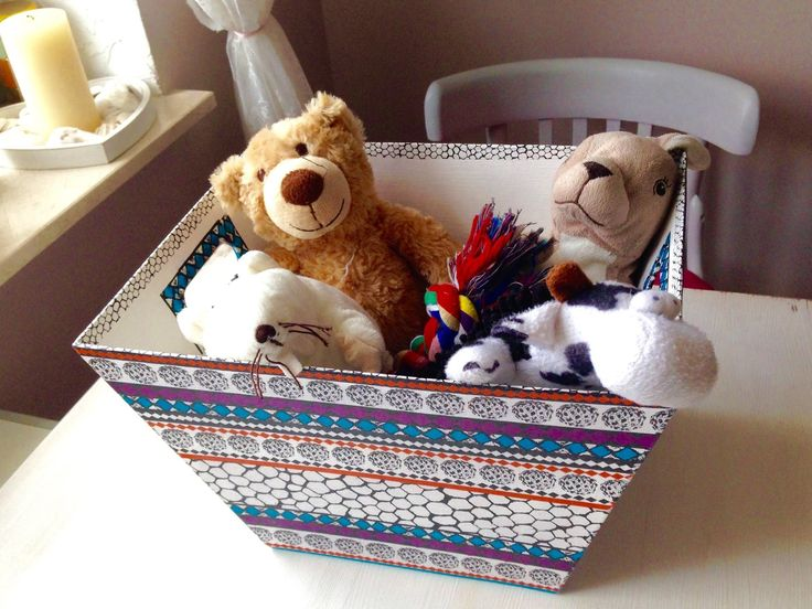 Decoupage toy box