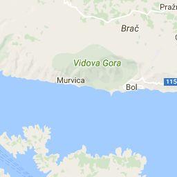 Karta över Hvar, Kroatien