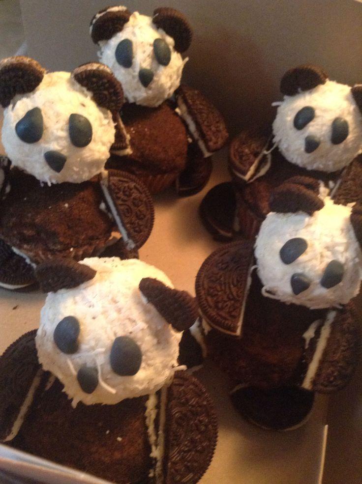 Famille de panda en cupcakes !!!