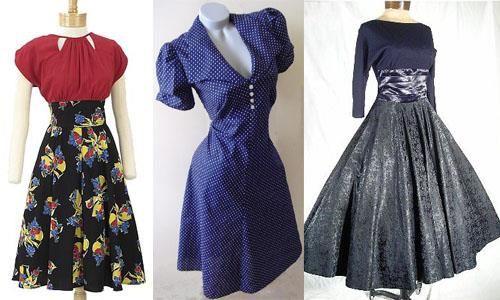 Стиль сороковых годов платье с юбкой карандаш