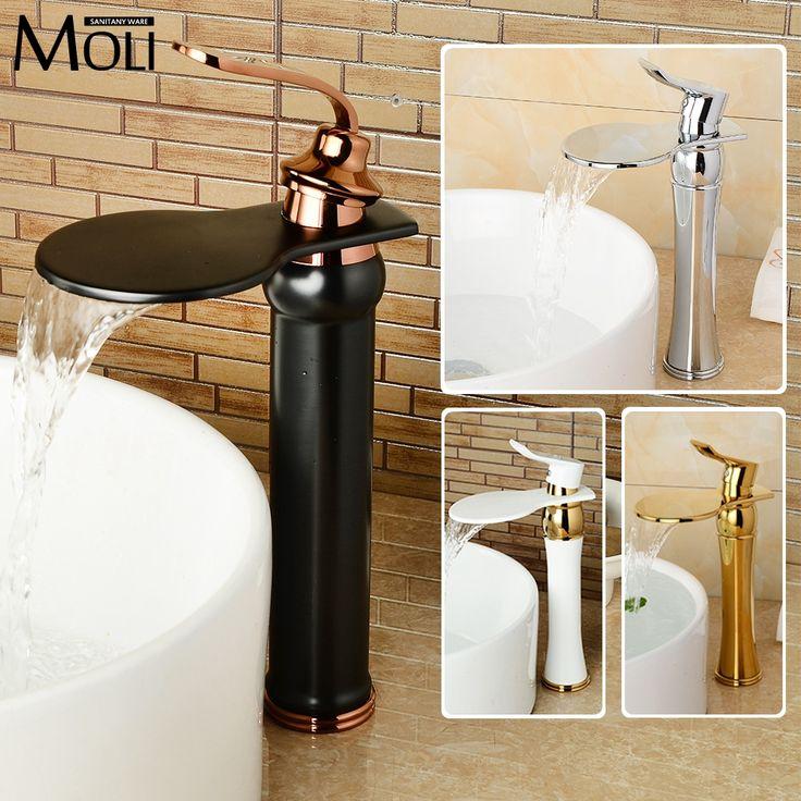 buy free shipping rose gold black bathroom faucet deck mounted soild brass