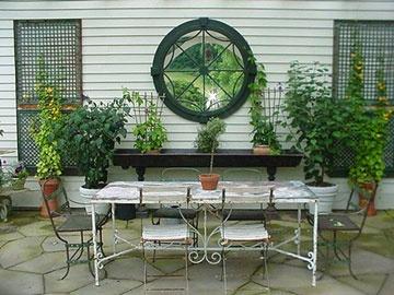 patio makeover diary ny stone patio with pergola patio wall decorflagstone - Patio Wall Decor