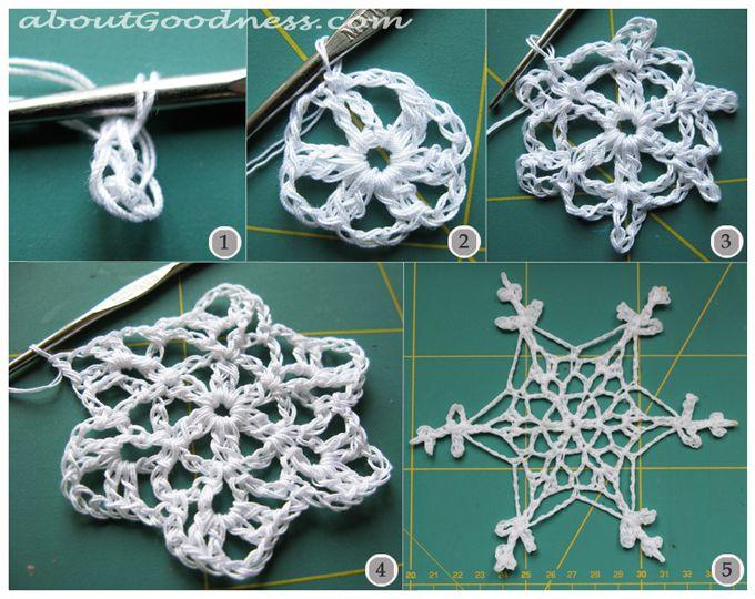 .: Christmas Crochet, Crafts Crochet, Crafts Ideas, Crochet Snowflakes Patterns, Crochet Christmas, Diy Tutorials, Free Patterns, Crochet Patterns, Applied Hook