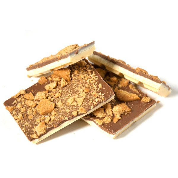 This block is inspired by the Golden Gaytime Ice-cream that we all know and love.The Gaytime bar is layered with a sweet creamy toffee flavoured premium Belgian chocolate, a layer of white Belgian chocolate, and topped with milk Belgian chocolate mixed and sprinkled with sweet and crunchy biscuit pieces.