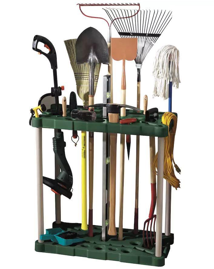 rubbermaid long handle tool storage