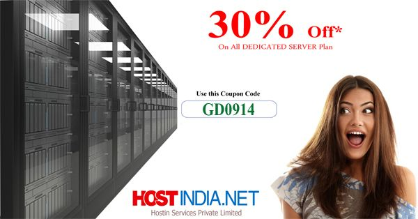Make this #Christmas more excitement with big #Saving. Buy High Performance #Dedicated Server with 30% off. Applicable for all hosting plan of hostindia.net.