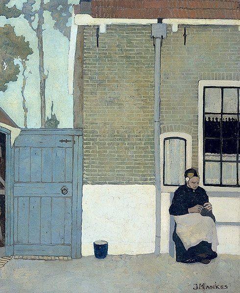 "Jan Mankes 1889-1920. ""Knitting woman"" 1914"