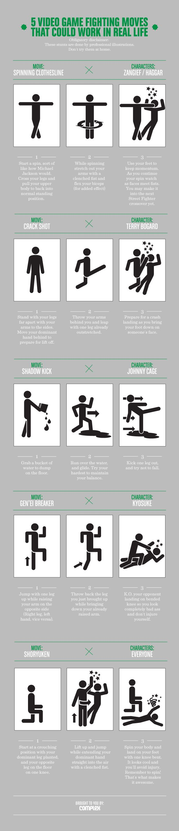 5-Video-Game-Fighting-Moves-That-Could-Work-In-Real-Life-infographic  Find always more on http://infographicsmania.com