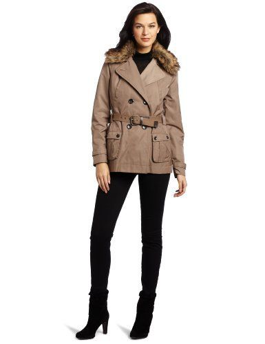 Vince Camuto Women's Hooded Rain Jacket Vince Camuto. $108.00. Shell: 57% Cotton/43% Polyester; Lining: 100% Polyester/body Liner: 100% Polyester; Sleeve Warmer: 80% Polyester/20% Cotton. Shell: 57% Cotton/43% Polyester; Lining: 100% Polyester/Body Liner: 100% Polyester; Sleeve Warmer: 80% Polyester/20% Cotton. Made in China. Comfortable fabrics. Dry Clean Only