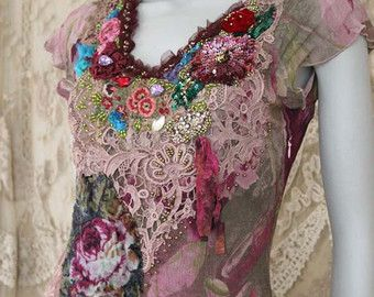 Peony wine-- whimsy bohemian dress, long, floaty, embroidered, reworked