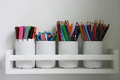 Craft Area shelf- IKEA spice rack