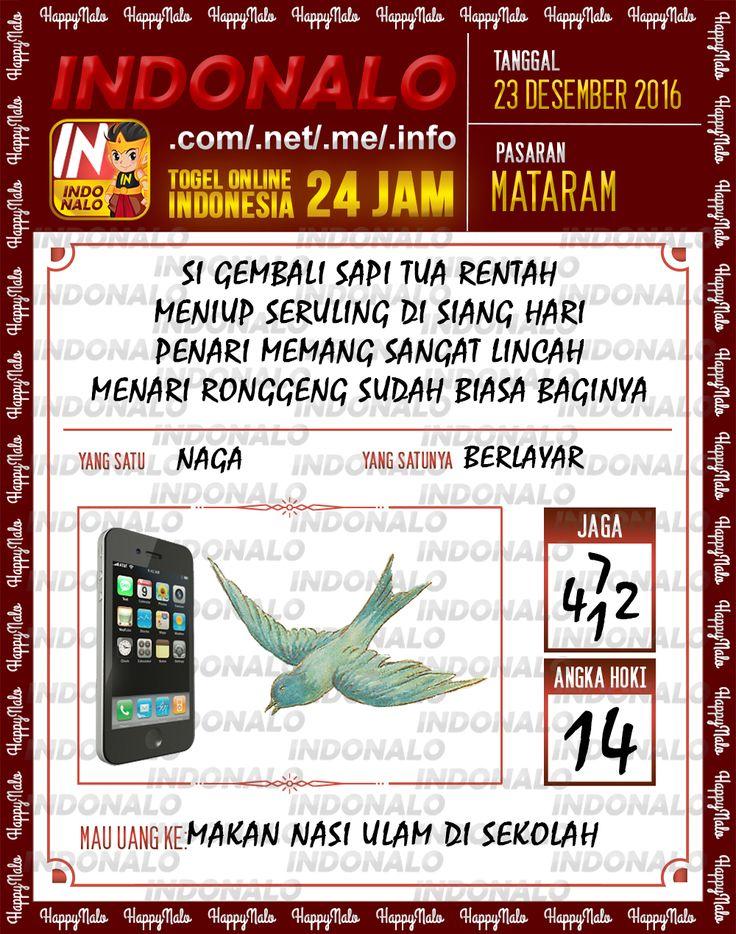 Angka Main 6D Togel Wap Online Live Draw 4D Indonalo Mataram 23 Desember 2016
