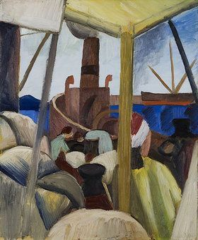 August Macke (Ger. 1887-1914) Hafen in Tunis (1914)