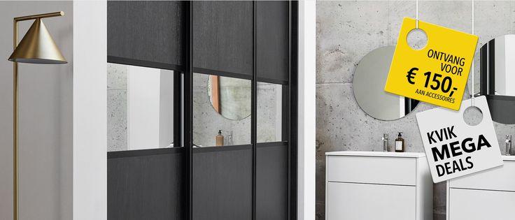 Een garderobe van Kvik past perfect bij de inrichting van je huis en benut de ruimte optimaal. Bekijk hier de vele nieuwe kledingkasten en garderobekasten met schuifdeuren.