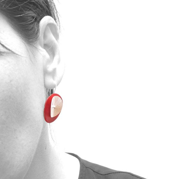 dangle earrings sterling earrings red modern bridal by iomiss