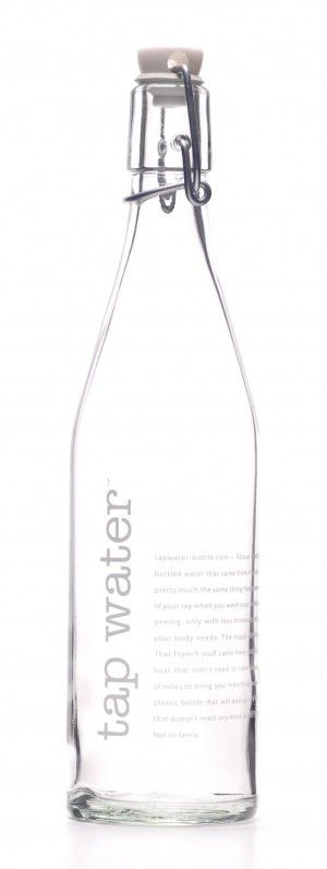 Package | Drink | Water | Clear glass bottle with stopper. I like that this bottle is completely cleanable and reusable as well.USABLE if given with photos or drive in it
