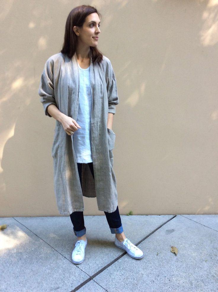 Linen Kimono style Coat & Bathrobe