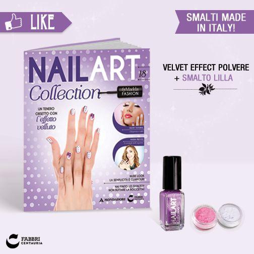 Nail Art Collection con velvet effect polvere 2 barattoli (bianco + turchese) + smalto lilla! #Nailart #unghie #smalto #bellezza #edicola