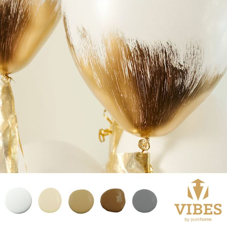 Chic and trendy metallic gold palette. White and gilded homes.
