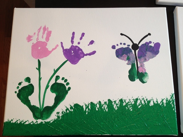 Child Hand & Foot Print Painting