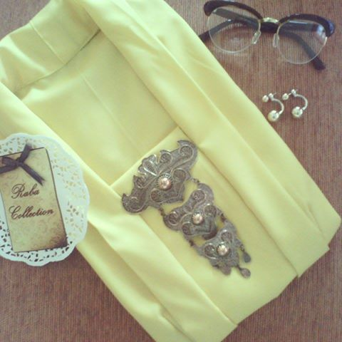 Kutubaru#yellow#handmade