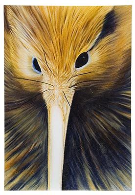 Golden Kiwi, Medium Art Block - Robyn Forbes http://www.shopnewzealand.co.nz/en/cp/Golden_Kiwi_Print