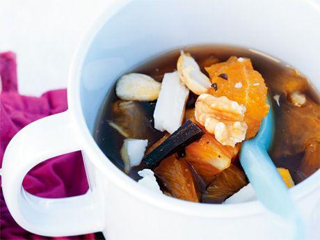 Fruktsoppa, citrus kryddad med vanilj
