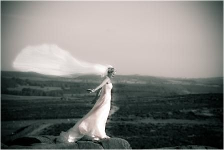 Feel like a true Princess with beautiful Peak District views as the backdrop to your wedding pictures