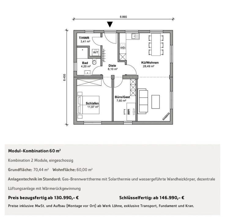 Wohnen über 50 qm Grundriss, Anlagentechnik, Wohnen